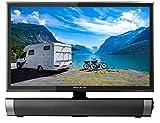 Reflexion LDDW19SB 19 Zoll Wide-Screen LED-TV mit Soundbar für Wohnmobile mit DVB-T2 HD, DVD-Player, Triple-Tuner und 12 Volt Kfz-Adapter (12 V/24 V, HDMI, USB, EPG, CI+, DVB-T Antenne), Schwarz