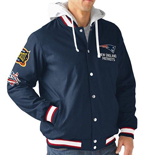 new-england-patriots-nfl-glory-super-bowl-commemorative-varsity-hooded-jacket-veste