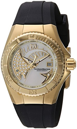 Technomarine Women's 'Cruise' Quartz Stainless Steel and Silicone Casual Watch, Color Black (Model: TM-115257)