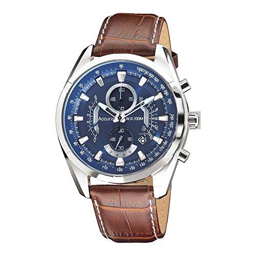 Accurist Ms785n - Reloj de Pulsera Hombre, Cuero, Color Marrón