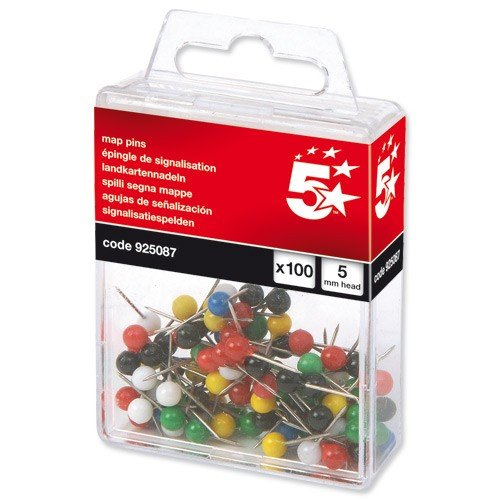 5-Star-Map-Pins-5-Head-Pack-100