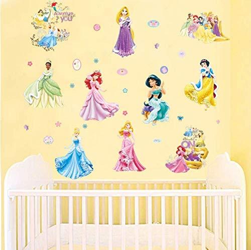 Chenghao's shop adesivi murali principessa dei cartoni animati per camera dei bambini mobili per camera da letto adesivi per mobili da cucina decorazioni per poster di fai da te