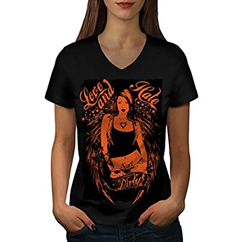 Sale Amour Fille Chaud Sexy Sale Sud Femme S T-shirt à col en V | Wellcoda