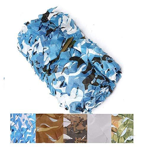 HWhome Tarnnetz Schatten Netting Sun Mesh Camouflage Markisen Sonnenschutznetz Zeltplane, Geeignet für Gewächshäuser Tennisspielplätze, Farbe Ocean Blue, Mehrere Größen (größe : 3 * 7M)