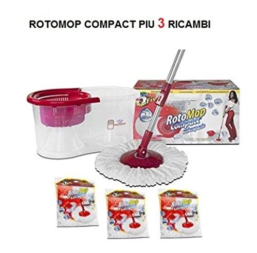 ROTOMOP COMPACT KIT LAVAPAVIMENTI GCP045 SUPERFIVE SALVASPAZIO PIU 3 RICAMBI