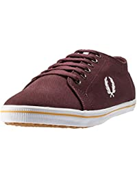 Fred Perry Sneaker Hombre Kingston Twill LonaHenna Burdeos