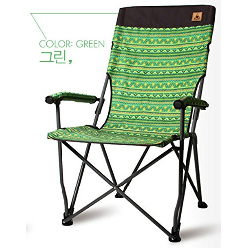 Kazumi Camping Easy Relax Chair / Auto Camping Chairs / Camping Products (Green) 2 Pocket-lab