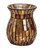 Feste Feiern Aromalampe Duftlampe Diffusor I Scentchips Mosaik Aztek Glas Gold Braun Tiffany Style Duftwachs Duftöl Waxtards Teelichte