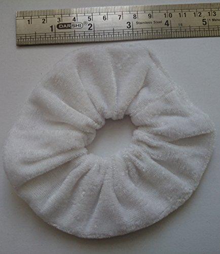 Aadya-Coletero de velours pour les cheveux (Large 26 différentes couleurs) blanc