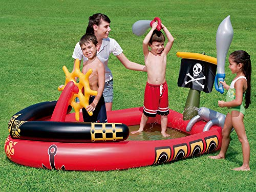 Bestway - Centro de juegos hinchable barco pirata 53041