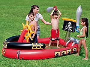 Bestway - Centro de juegos hinchable barco pirata (53041)