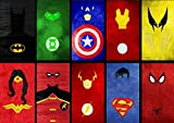 Poster PERSONNAGES COMICS SUPER HEROS CHARACTERS Wall