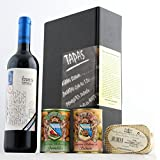 Geschenkset - Tapas & Wein (verschiedene Delikatessen und Tempranillo Rotwein)