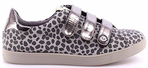 Chaussures Sneakers Femmes LIU JO Straps Elephant Skin Nero Tissu Nouveau