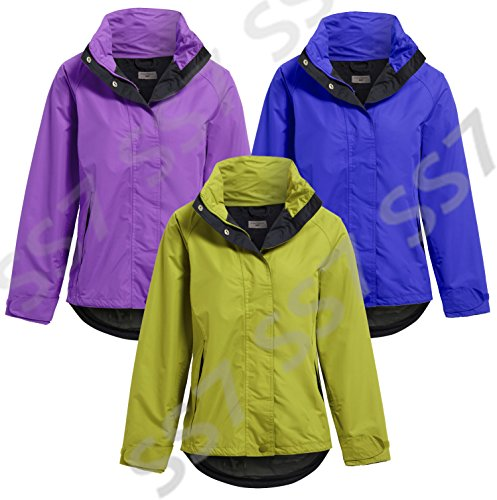 NEUF SS7 Femmes Coupe Vent Imperméable, Vert citron, Bleu, Violet, tailles 10 à 16 Bleu