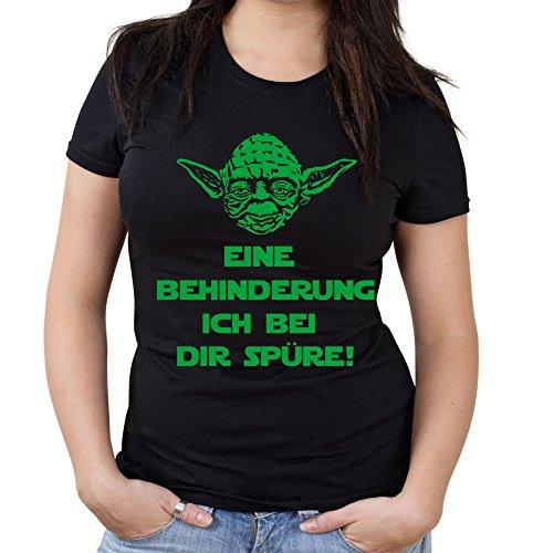 Yoda Spruch Girlie Shirt | Star Wars | lustige | Darth | Zitate | Sith | Vader | Damen | Frauen | Fun | Kult | Film | Eine Behinderung Schwarz