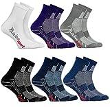 Rainbow Socks - Jungen Mädchen Sneaker Bunte Baumwolle Sport Socken - 6 Paar - Weiß Lila Grau Blau Marino Schwarz Jeans - Größen EU 30-35