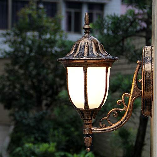Hdmy Europäischen Stil Wasserdichte Retro Outdoor Laterne Wandleuchte Tradition Victoria Antique Nacht Balkon Korridor Warmweiß Outdoor Wandleuchte E27 Dekoration Beleuchtung (Color : Bronze) - Antique Bronze Outdoor-wandleuchte