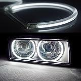 BIOENGIE 4 * 131 mm Weiß LED SMD Angle Eyes Halo Ringe Phare de Auto E36 E38 E39 E46