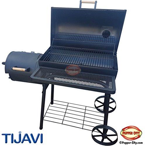 Smoker Grill TIJAVI� - Texas XL - Premium with Fire + Smokearea - 47 x 26 x 53 inch