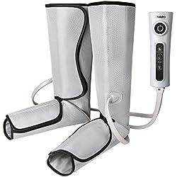 Naipo Appareil de Massage Masseur Electrique par Compression d'Air pour Mollets Jambes Pieds Contrôleur de Poche