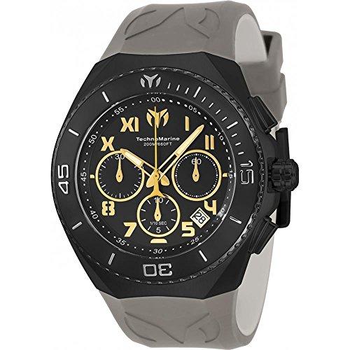 technomarine-mens-manta-48mm-grey-silicone-band-steel-case-quartz-black-dial-analog-watch-tm-215073