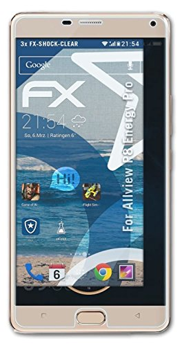 atFolix Schutzfolie kompatibel mit Allview P8 Energy Pro Panzerfolie, ultraklare & stoßdämpfende FX Folie (3X)