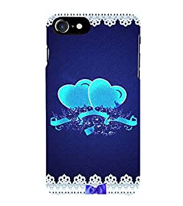 Pair of Hearts 3D Hard Polycarbonate Designer Back Case Cover for Apple iPhone 7