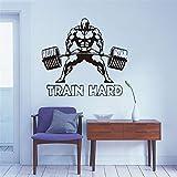 haotong11 Sport wandtattoo Gewichtheber benutzerdefinierte Name Wohnzimmer Fitnessraum und bar...