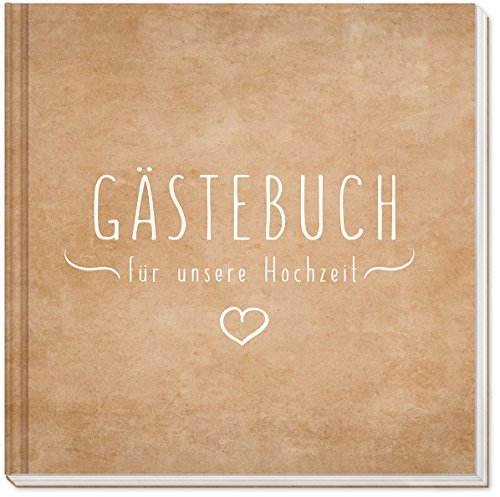 Sophies Kartenwelt Gästebuch Hochzeit - Hochwertiges Hardcover/144 weiße Seiten/21 x 21 cm/Hochzeitsgästebuch/Hochzeitsalbum/Hochzeitsbuch/Hochzeitsgeschenk