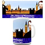 Funny Kaffeebecher The Palace of Westminster von Twisted Envy, keramik, weiß, 15 OZ