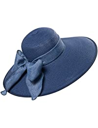 28c094aa8df0b Zoylink Women Large Brimmed Sun Hat Foldable Beach Hat UV Sun Hat for  Summer Outdoor