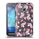 Head Case Designs Suessigkeiten Zauberhafte Einhoerner Soft Gel Hülle für Samsung Galaxy Xcover 3
