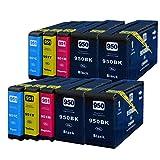 10 für HP 950XL 951XL Officejet Pro 276 dw m. Chip Füllstandsanzeige XL Füllung