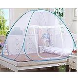 Rechel Moustiquaire en forme de dôme à installation facile, filet pliable, évite les insectes - Tente pop up pour lits / Chambre à coucher (80 x 190cm), blanc, 180*200*150cm