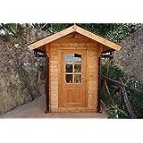 Casita de madera de jardín dekalux 1,5 x 2 ...