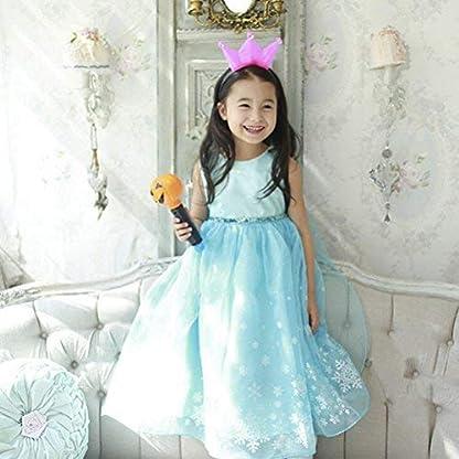 Vicloon Disfraz De Princesa Elsacapa Disfracesbelle Vestido Y Accesorios Para Niñas Reino De Hielo Para Carnavalcosplaynavidadfiesta De