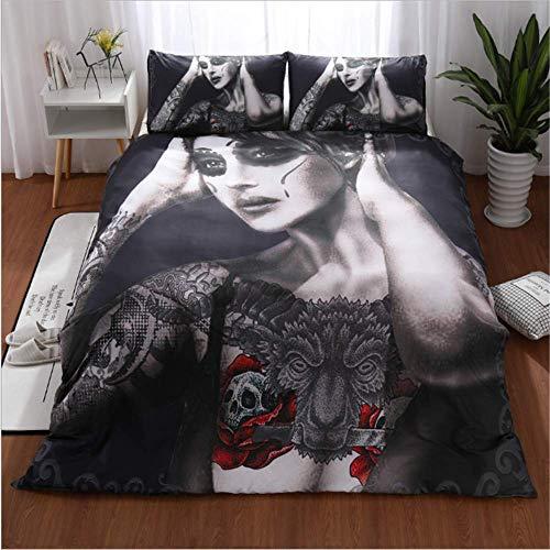 SHJIA Bettwäsche aus ägyptischer Baumwolle Set Königin King Size Style Spannbetttuch Set Kissenbezüge C 200x230cm -