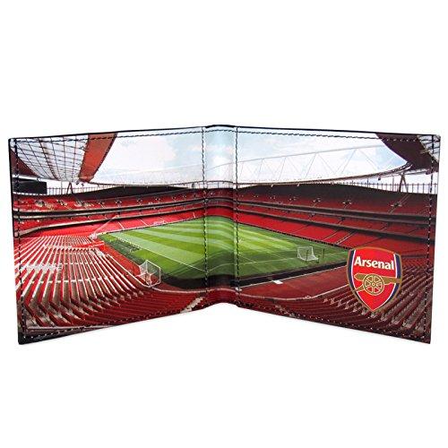 Arsenal FC officiel - Portefeuille thème football - blason embossé - noir