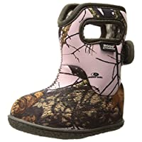 BOGS Baby Snow Boot, Camo Print/Pink Mossy Oak Country, 8 Toddler