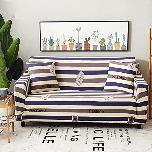 Poliestere divano fodera elastica,stampato floreale copridivano divano letto antipolvere universal all-in-one anti-scivolo con cinghie elastiche coperture per divani mobili protector per 1 2 3 4 cuscini divano per cani e bambini asciugamano divano-x divano