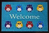 Trendstern® Trendprodukteshop Fußmatte Fußabtreter Schmutzmatte Motiv Design Eule Owl