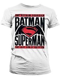 Batman vs Superman Mujeres camiseta de (White)