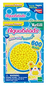 Aquabeads- Solid Beads, Color Amarillo (Epoch para Imaginar 32528)