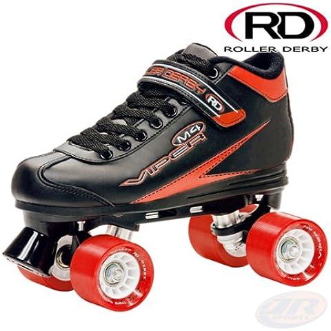 Roller derby VIPER 4 men-Pattini a rotelle, taglia 41,5 ruote-Quad da 58 x 40 mm 85A, cuscinetti ABEC5