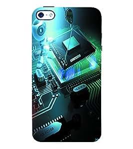 Fuson 3D Printed Robot Chip Designer Back Case Cover for Apple iPhone 4S - D902