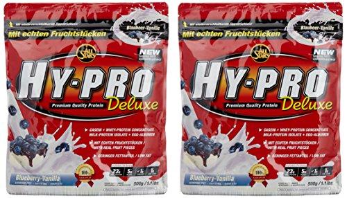 All Stars Hy-Pro Deluxe Beutel Doppelpack (2 x 500 g) Blueberry-Vanilla, 1er Pack (1 x 1 kg) (Protein Vanille Egg)