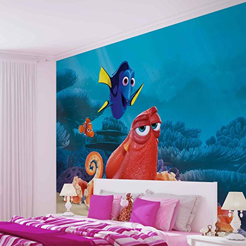 Disney Findet Nemo Dory - Forwall - Fototapete - Tapete - Fotomural - Mural Wandbild - (3591WM) - XXL - 312cm x 219cm - VLIES (EasyInstall) - 3 Pieces