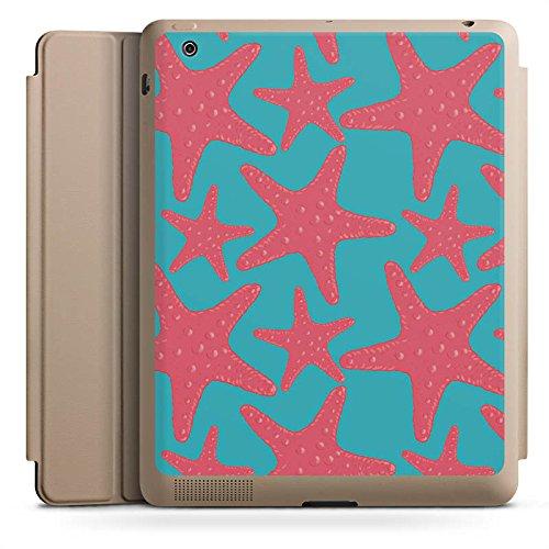 (Apple iPad 2 Smart Case Hülle Tasche mit Ständer Smart Cover Seestern Sommer Urlaub)
