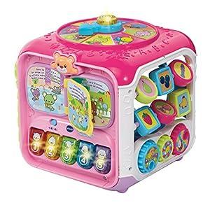 VTech 183455 - Juguete Super Cubo de Descubrimiento, Rosa